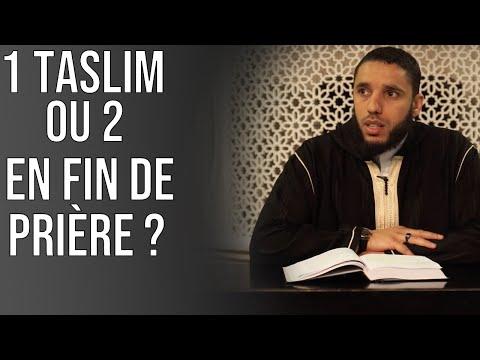 C'est une sunna de dire une seule fois Assalamou alaykoum en fin de prière. Rachid Eljay