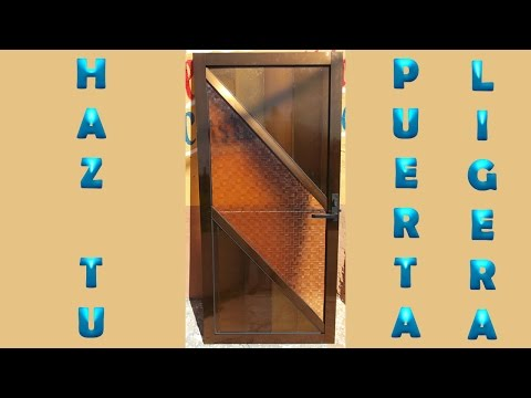 Como se hace una perta de aluminio doovi for Como hacer una puerta de aluminio