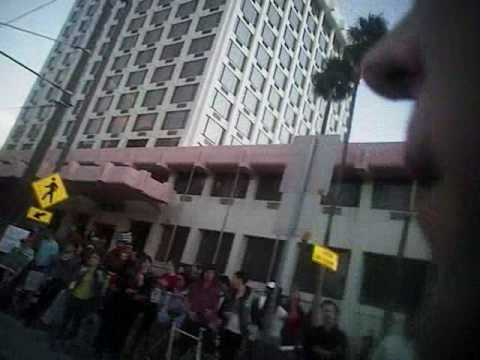 Tucson police video of Feb. 16 immigration protest
