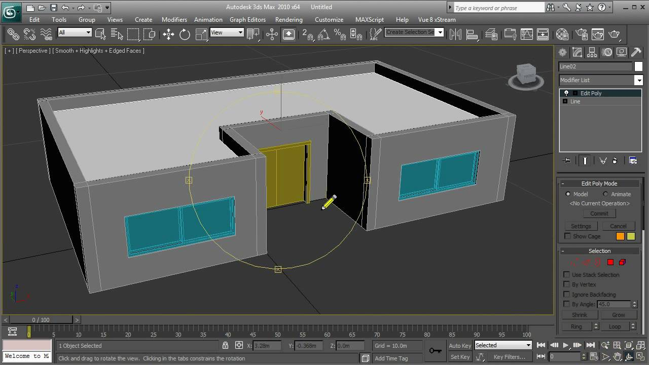 3ds max simple house tutorial hd youtube Simple 3d modeling online