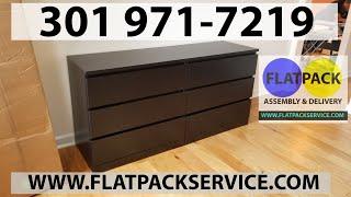 Ikea Malm 6 Drawer Dresser Assembly Service In Washington Dc Md & Va 240 603 2781