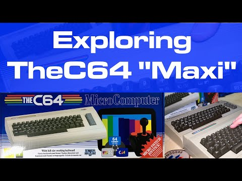 "Exploring TheC64 ""Maxi"" Full-Size Commodore 64 Replica"