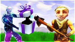 Gifting a Default Skin his First ever skin on Fortnite...