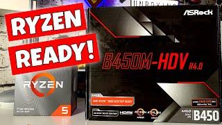 aSRock B450M HDV R4.0 BEST Budget AM4 3000 Ready MATX