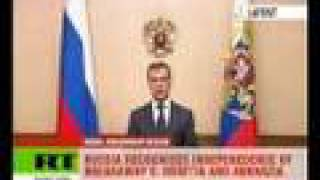 Medvedev backs independence for Abkhazia and South Ossetia