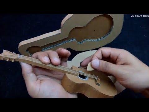 Cách làm chiếc đàn GUITAR từ bìa