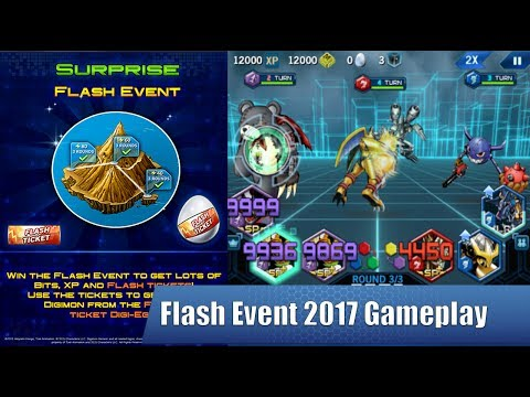 Digimon Heroes! | Event = Flash Event Gameplay (2017)