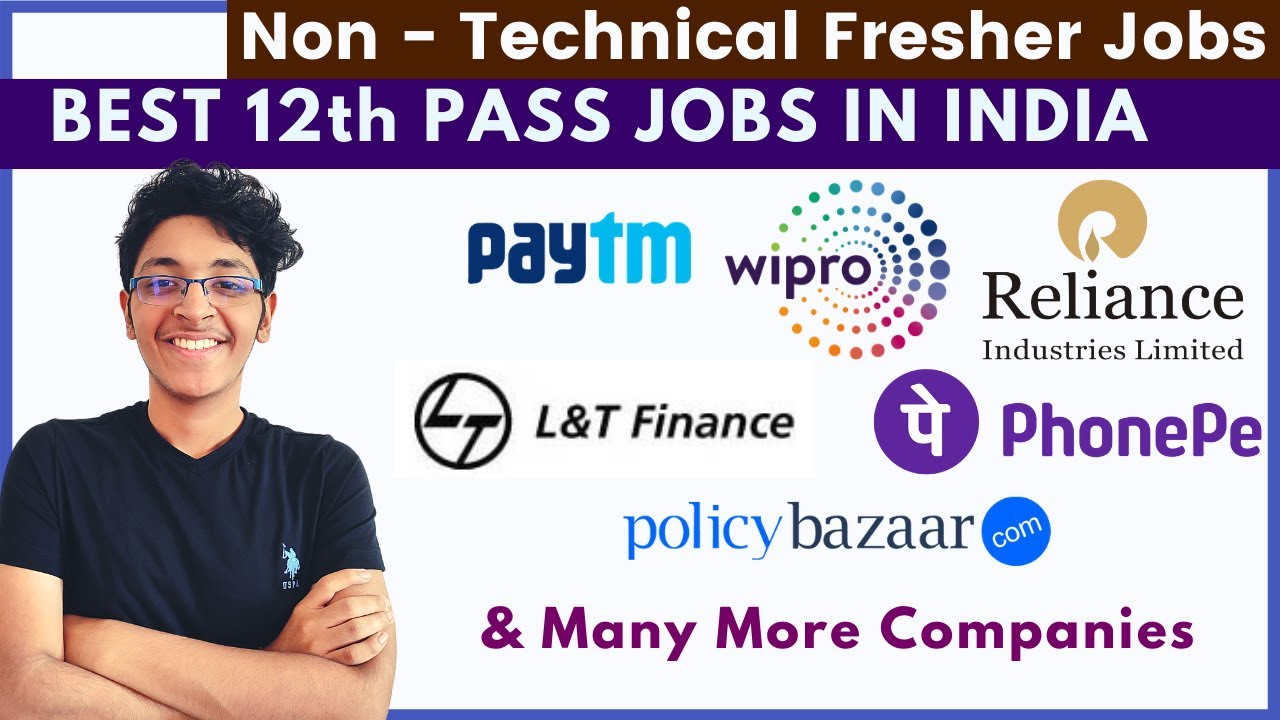 Top 10 12th Pass Job Openings For Freshers 2021 | Non Technical Jobs | Pan India Jobs For Freshers