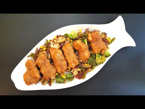 GLUTEN FREE FISH STIR FRY | BATTER FRIED FISH | Gluten Free Barramundi