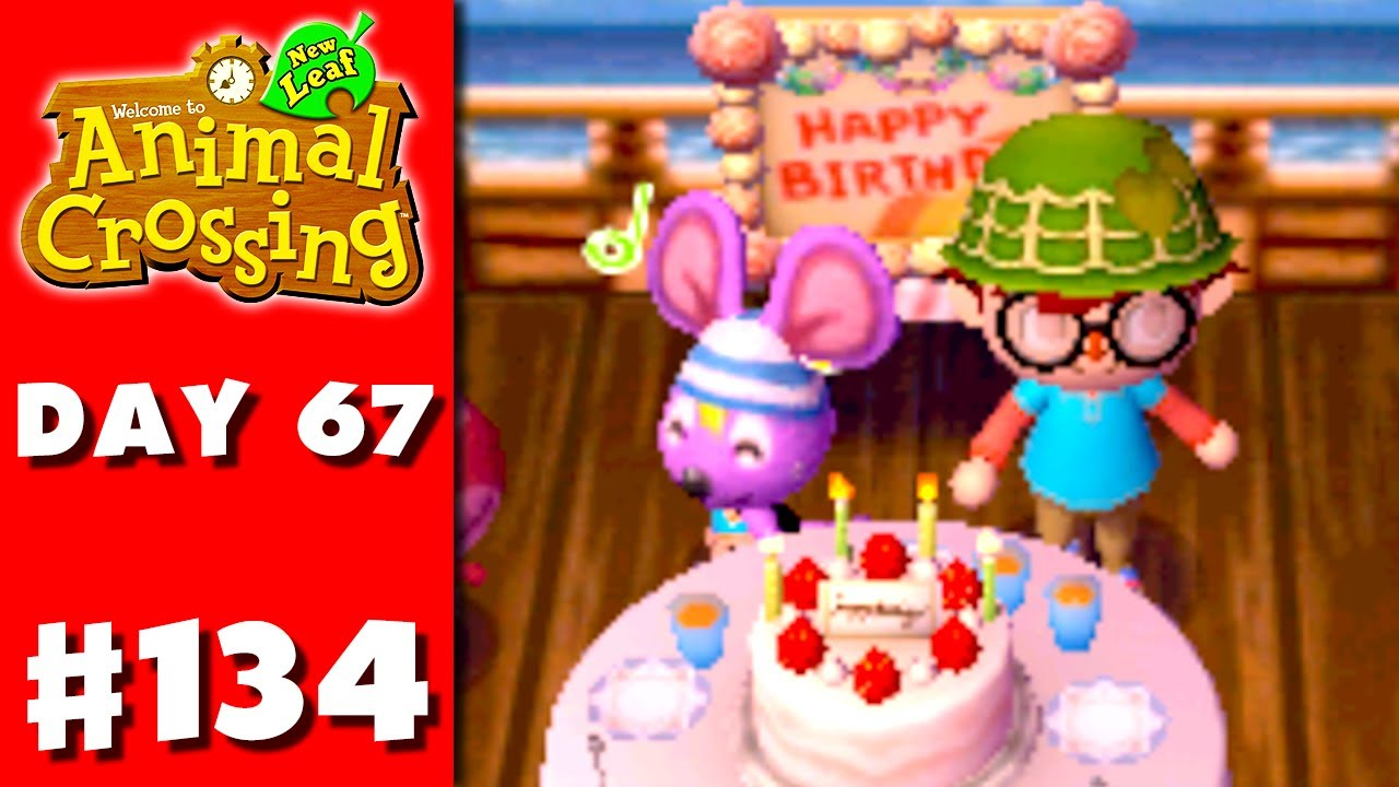 Animal Crossing New Leaf Part 134 Rod S Birthday Nintendo Gameplay Walkthrough Day 67