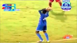 SAG 2016 : Nepal Vs Maldives Semifinal 4 -3