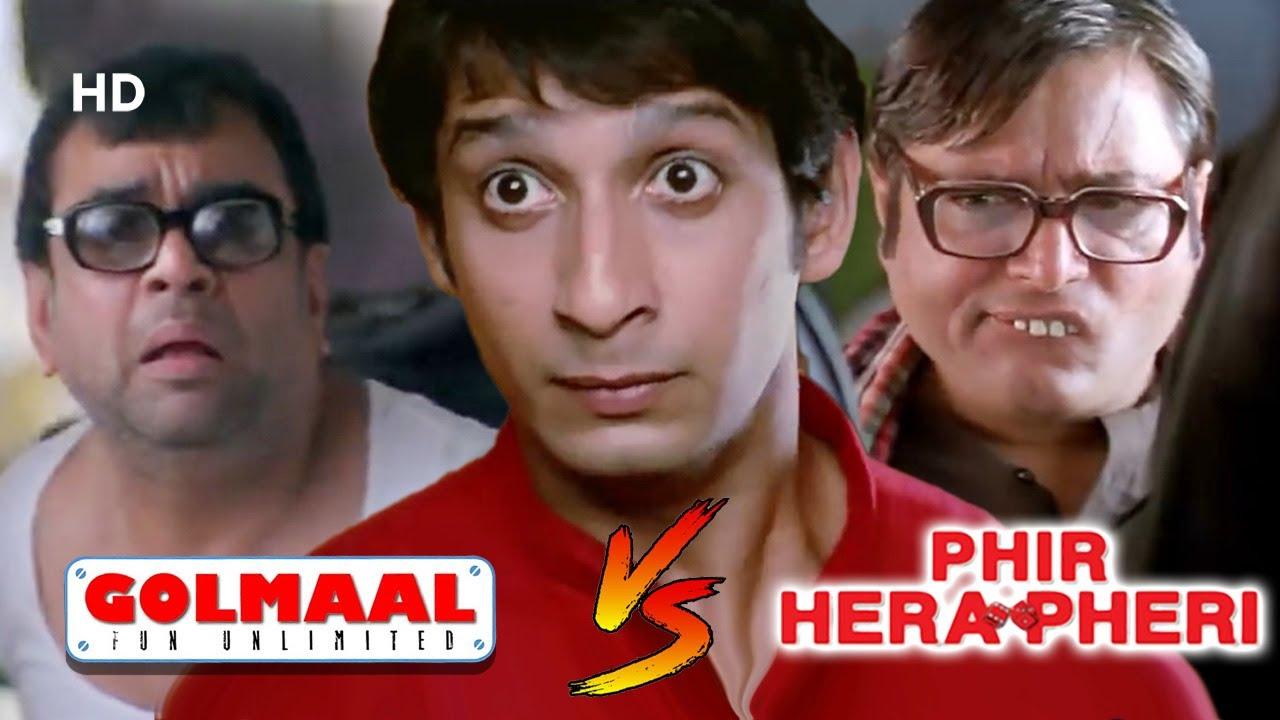Golmaal v/s Phir Hera Pheri | Best Of Comedy Scenes - Paresh Rawal - Akshay Kumar - Manoj Joshi