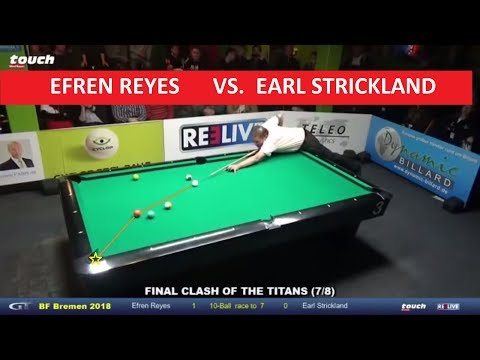 Efren Reyes (Philips) VS Earl Strickland (US) |2018 World Pool Masters| 10 Balls|Prize $80,000