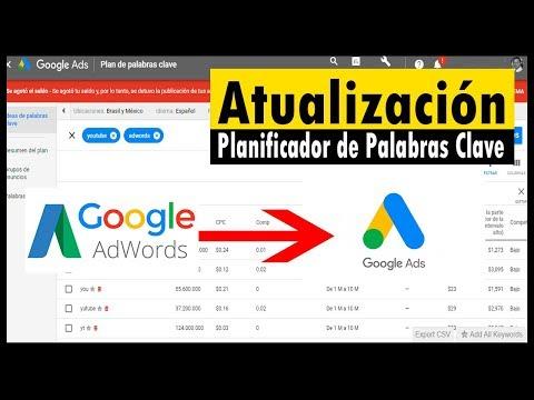 Actualización del Planificador de Palabras Clave - Google Keyword Planner - Luisito Habla