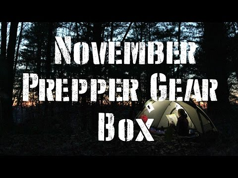 November Prepper Gear Box  un-boxing and review