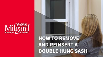How to Remove and Reinsert a Double Hung Window Sash