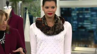 Susan Graver Novelty Stitch V-Neck Long Sleeve Sweater on QVC