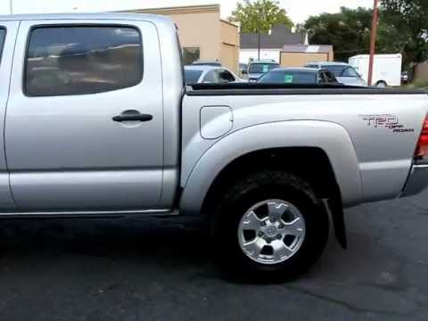 07 Toyota Tacoma Double Cab Trd Sport Leer Camper Shell