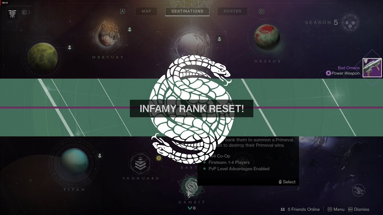 How to infamy rank reset Gambit | Destiny 2
