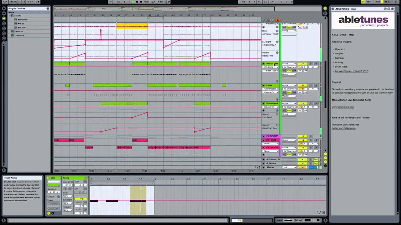 Trap Ableton Live Template By Abletunes Youtube