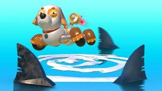 АнимаКары - Международный День Щенка: Спасён Щенком! - мультфильмы для детей с машинами и животными