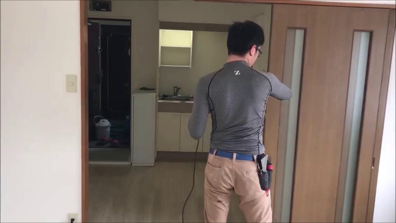 空室清掃ガイド ブロワーでホコリ除去編