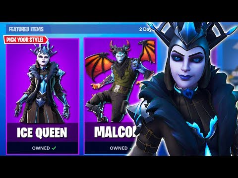"New ""ICE QUEEN"" SKIN in Fortnite COUNTDOWN! NEW ITEM SHOP SKINS COUNTDOWN! (Fortnite Battle Royale) thumbnail"