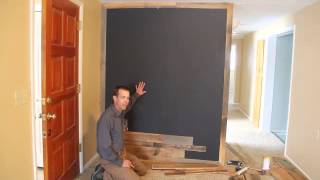 Rlp Skip Sanded Mixed Idaho Barnwood Accent Feature Wall Paneling Installation Tutorial.