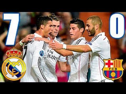 REAL MADRID Vs FC BARCELONA 7 - 0  ARCHIVE EL CLASICO