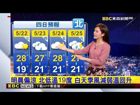 氣象時間 1080521 晚間氣象 東森新聞