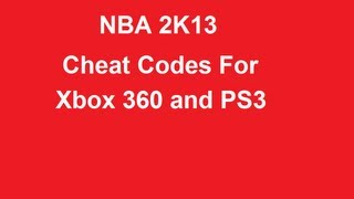 NBA 2K13 Cheat Codes for Xbox 360 and PS3