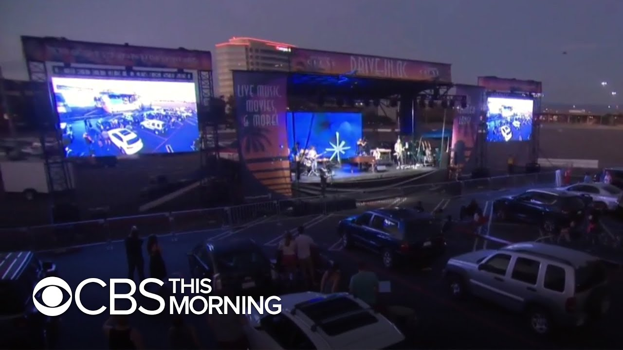 Drive-in concerts provide live music experience during coronavirus pandemic