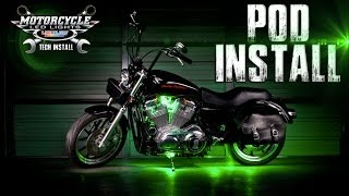 LEDGlow's Motorcycle Pod Light Installation(This video will help walk you through the process of installing your LEDGlow Motorcycle Pod Lighting Kit. Each pod features 5 SMD LEDs, and the featured SMD ..., 2014-01-15T16:59:06.000Z)