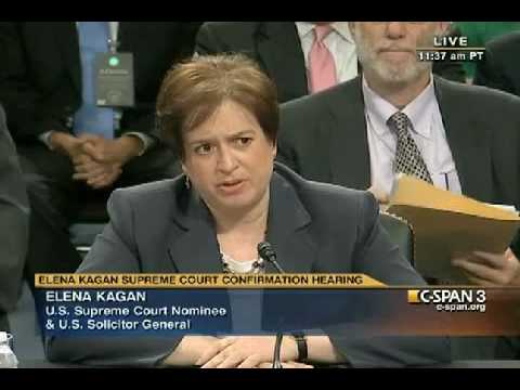 """Elena Kagan on Inalienable Rights -  """"I've never really considered that question."""""""
