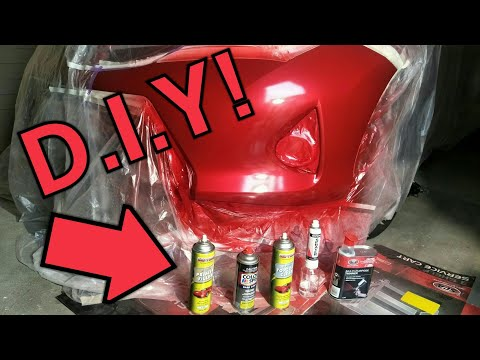 Spray Painting A Car With Aerosol Cans!!! At Home.