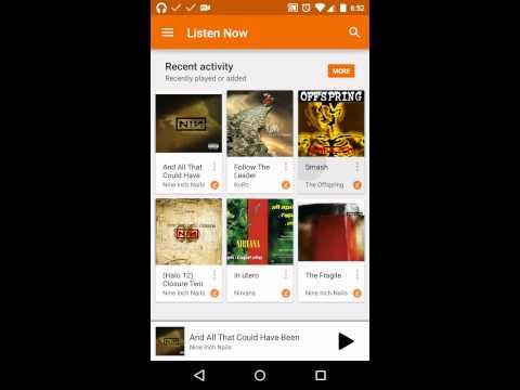 Google Play Music app Toolbar's behaviour