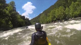 Third-Person Perspective Middle Ocoee RIver Whitewater Kayaking