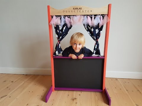 DIY How to build a Puppet Theatre from plywood - Wooden Puppet Theatre