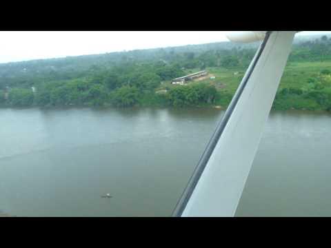 Flight over the Sangha river