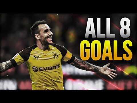 Paco Alcácer ► First 8 Goals for Borussia Dortmund   2018/19ᴴᴰ