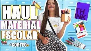 HAUL MATERIAL ESCOLAR + SORTEO 📚✏️│Cristi Ramos
