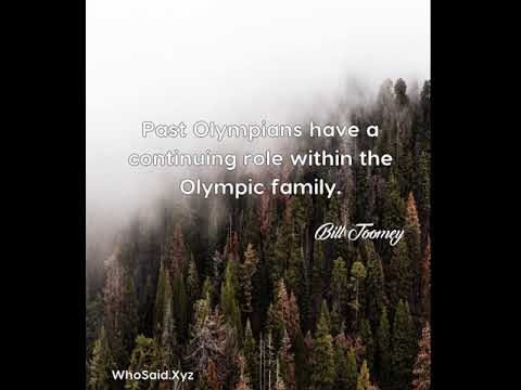 Bill Toomey: Past Olympians have a continuing role within the Olympic family....