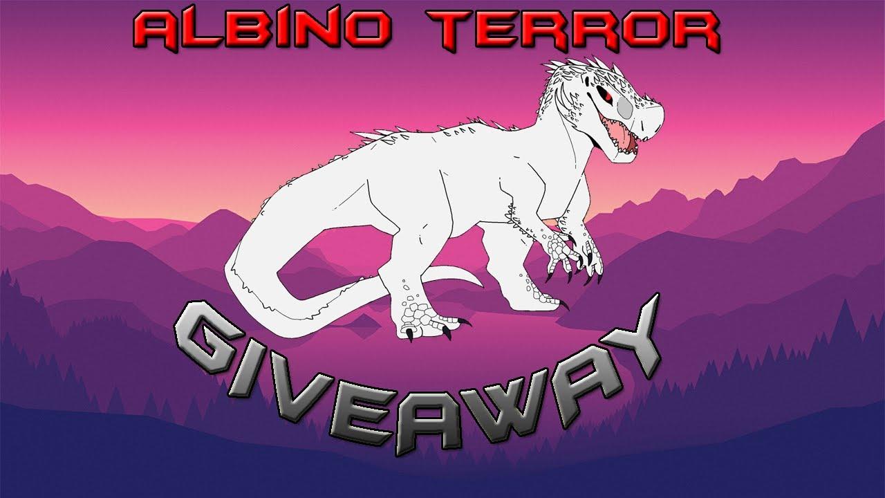 Roblox Dinosaur Simulator - Albino Terror Giveaway! - YouTube