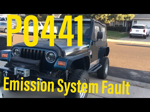 P0441 Fault Code 97-2003 JEEP Wrangler 2.5L Engine TJ XJ YJ Remove & Replace Leaky Vapor Canister