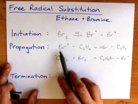 Free Radical Substitution Ethane And Bromine Youtube
