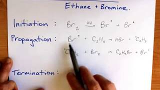 Free Radical Substitution (Ethane and bromine)