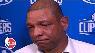 Doc Rivers in tears after hearing about death of Kobe Bryant | NBA Sound