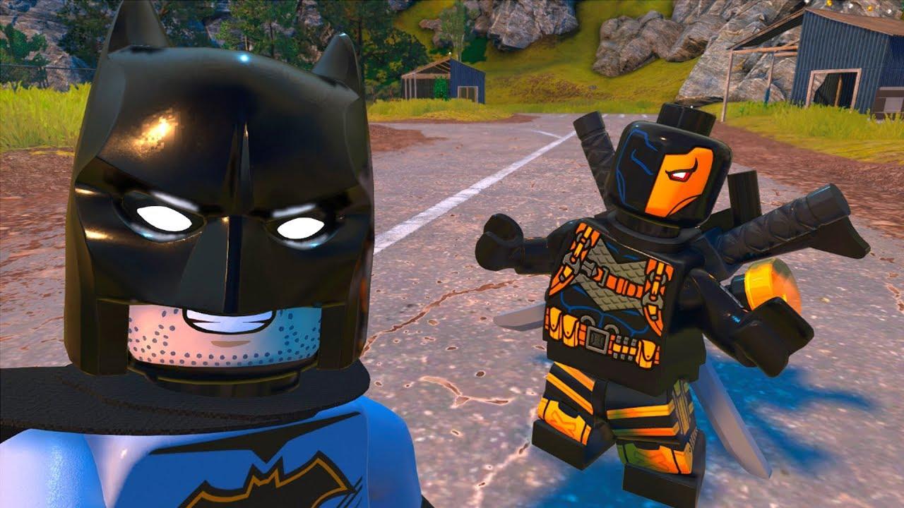 LEGO DC Super-Villains - Batman vs Deathstroke - Open World Free Roam  Gameplay HD