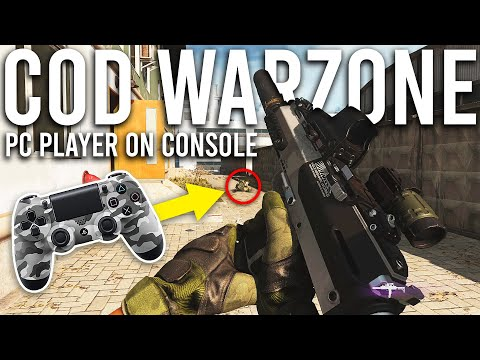 Call Of Duty Warzone PC Player On Console For The First Time!