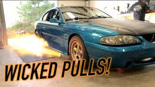 Download A DEMON on race gas, and flame throwing turbo mustang! Mp3 and Videos